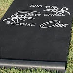 Hortense B. Hewitt 30046 Black Two Become One Aisle Runner
