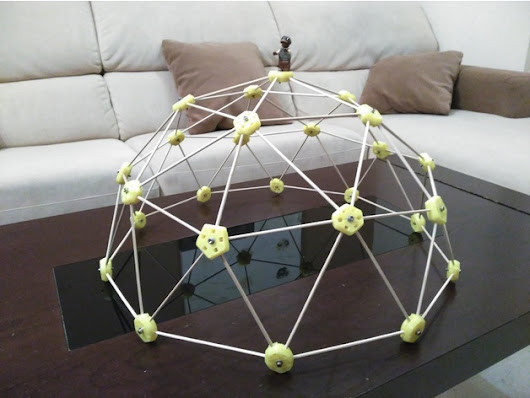 Easy assembled Geodesic Dome by Mecano