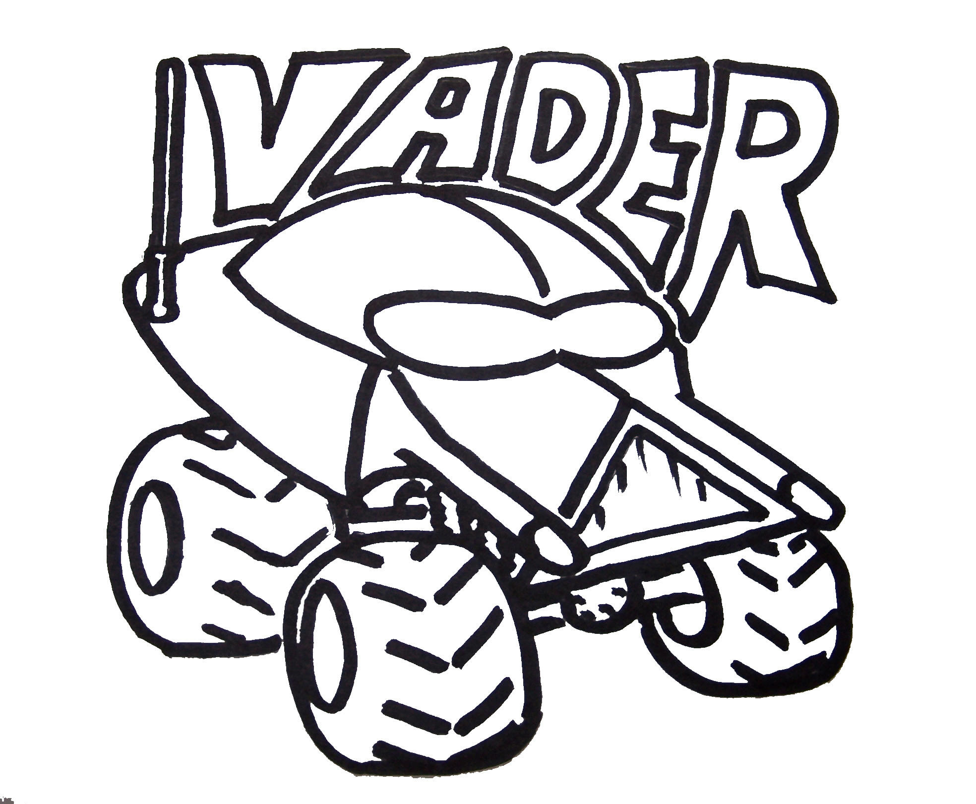 Darth Vader RC Car to color