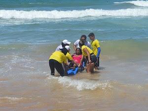 Projeto 'Praia acessível' em Vilas do Atlântico, Lauro de Freitas, Bahia (Foto: Divulgação)