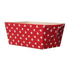 4.5L x 2.5W x 2.3H Rectangular Loaf Baking Pans Red with White Dots - Case of 250 (Free Shipping)