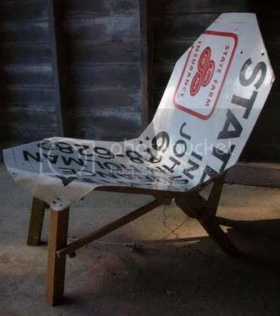 Road Signs Chairs