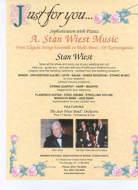 A. Stan Wiest Music Entertainment Flyer Information   Stan