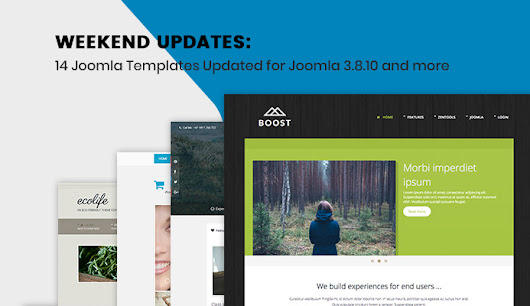 Weekend Updates: JA Joomla GDPR Extension and 14 Joomla templates updated for Joomla 3.8.10 | Joomla Templates and Extensions Provider