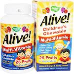 Nature's Way Alive Children's Chewable MultiVitamins Natural Orange & Berry Flavors 120 Chewable Tablets