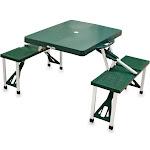 Picnic Time Folding Portable Picnic Table Green