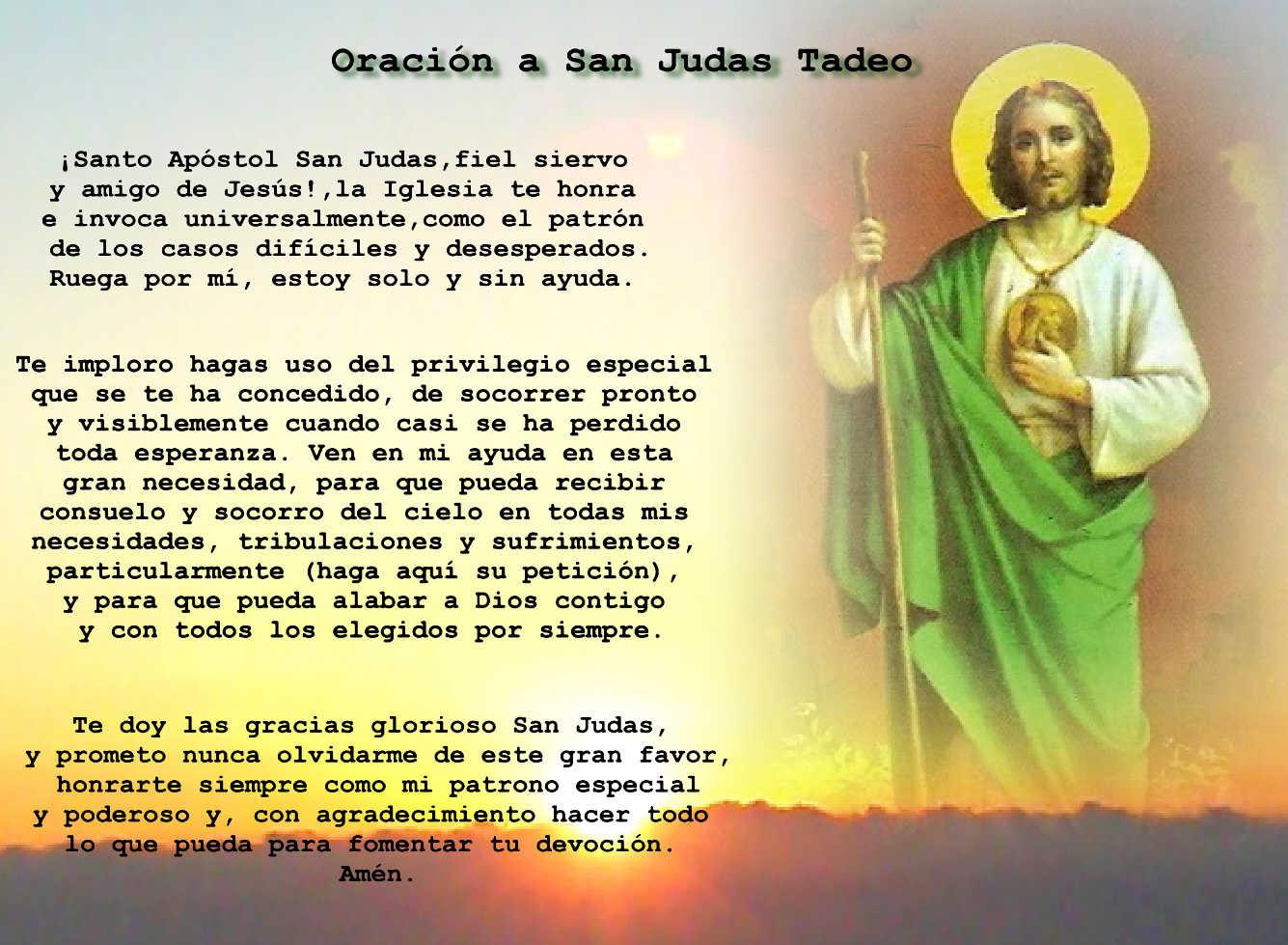 San Judas Tadeo Oración Y Frases