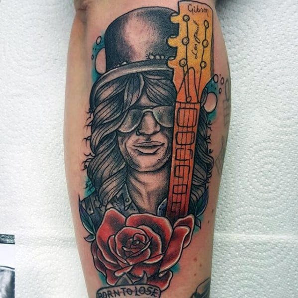 40 Guns And Roses Tattoo Designs For Men Hard Rock Band Ink Ideas