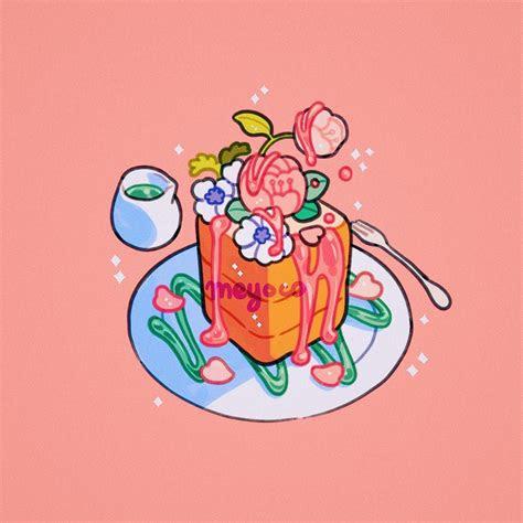 honey toast aesthetic art kawaii art pastel art