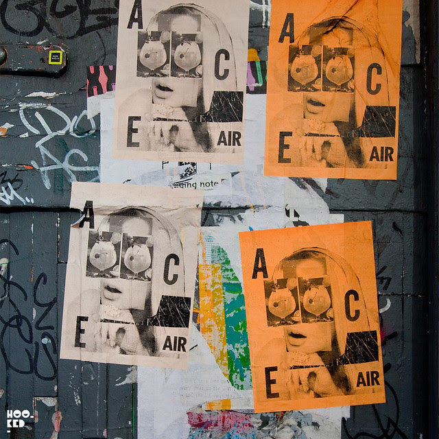 A.CE, Street Art Pasteups in London. Photo ©Hookedblog 2013