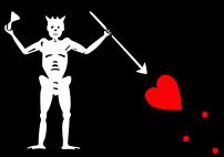 Pirate flag of Blackbeard (Edward Teach)