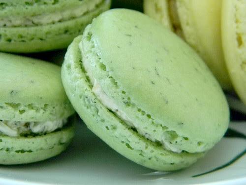 Fresh Mint Macarons