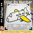 Color By Numbers Transportation Addition