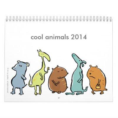 Cool Animals 2014 Calendar