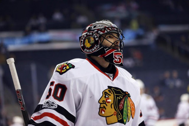 Corey Crawford... (Photo Bruce Fedyck, archives USA TODAY Sports)