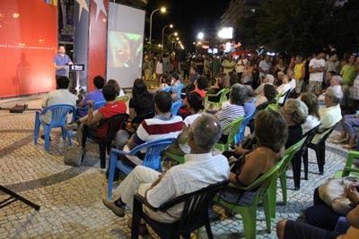 José Gusmão no comício de Monte Gordo - Foto de Nuno Viana
