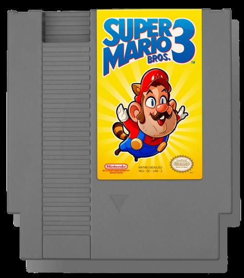 Super Mario Bros. 3 (1990 US) Nintendo Entertainment System Cartridge Tribute