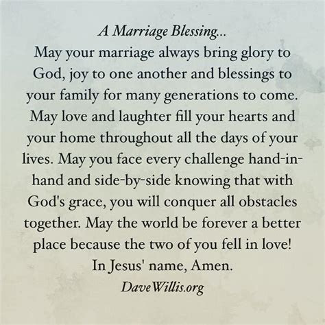 A Marriage Blessing   Christian marriage, Wedding