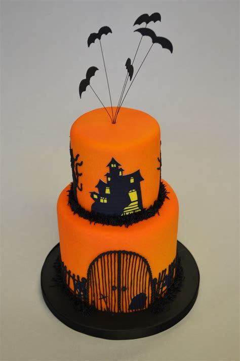 2 Tier Halloween Cake   Celebration Cakes   Cakeology