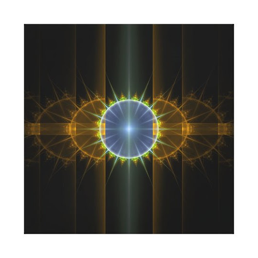 Modern Fractal Art Wall Decor Stretched Canvas