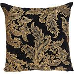 Parkland Collection PILF21017C Mertha Accent Black Pillow Cover