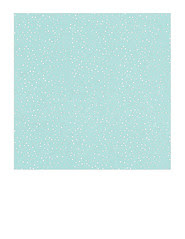7x7 inch SQ  Snow Dot Day (light turquoise) paper LARGE SCALE