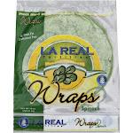 La Real Tortillas Wraps, Spinach - 15 oz