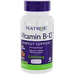 Natrol Vitamin B12 Maximum Strength Energy Support Fast Dissolve Strawberry 5000 mcg. 100 Tablet(s)