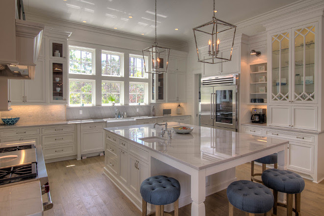 Kitchen Layout. Kitchen Layout. Large white kitchen cabinet and island layout. #Kitchenlayout #Kitchenlayout #largekitchenlayout #kitchencabinetlayout #kitchenislandlayout 30A Interiors