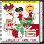 Cookies For Santa Pixes Layered Templates - CU
