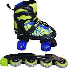 Schwinn Boy's Adjustable 2-in-1 Quad/Inline Skate - Black/Green 1-4