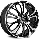 HD Wheels Spinout Wheels in Gloss Black with Machined Face - SO15650140BK
