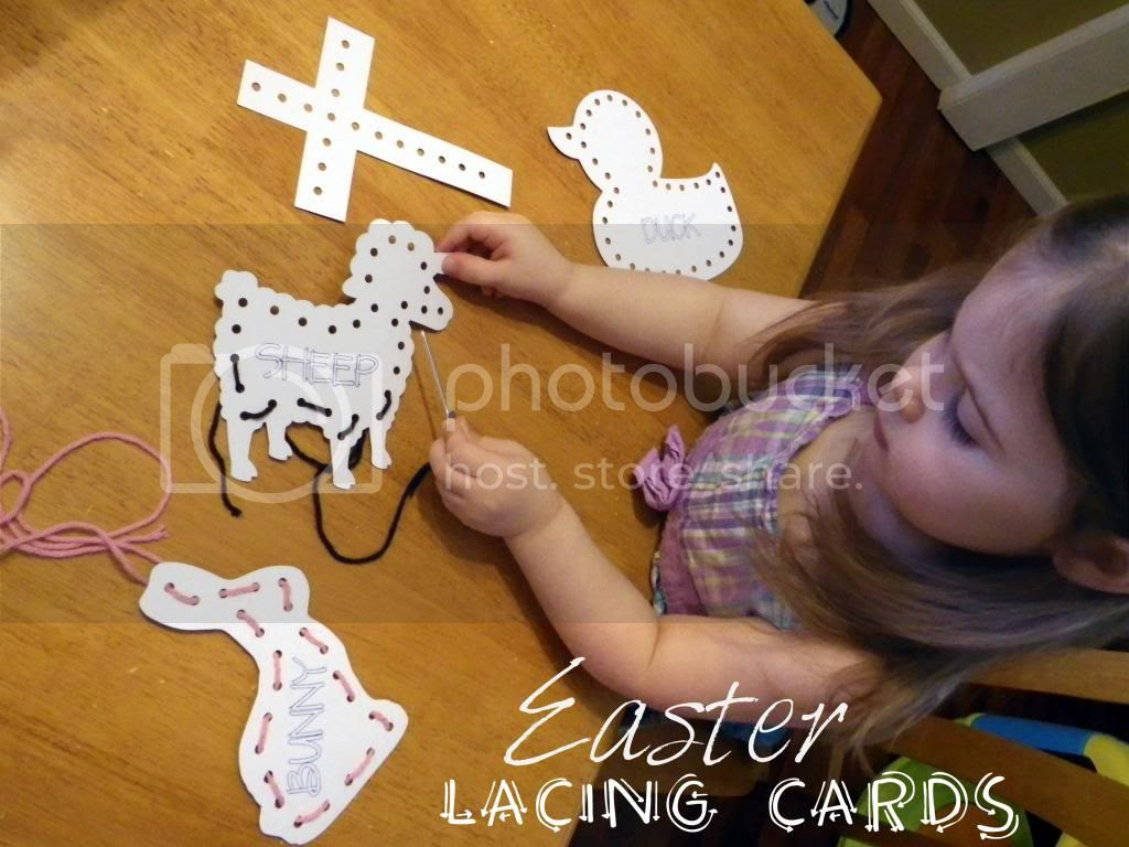 Easter Lacing Cards Printable by Amanda Moutos Designs