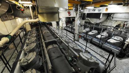 Le « Somme » dispose de deux moteurs de 10 400 chevaux chacun, l'équivalent de deux TGV. Photo Marc Demeure.