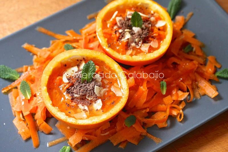 Ensalada marroqu de zanahoria y naranja receta paso a - Ensalada de zanahorias ...