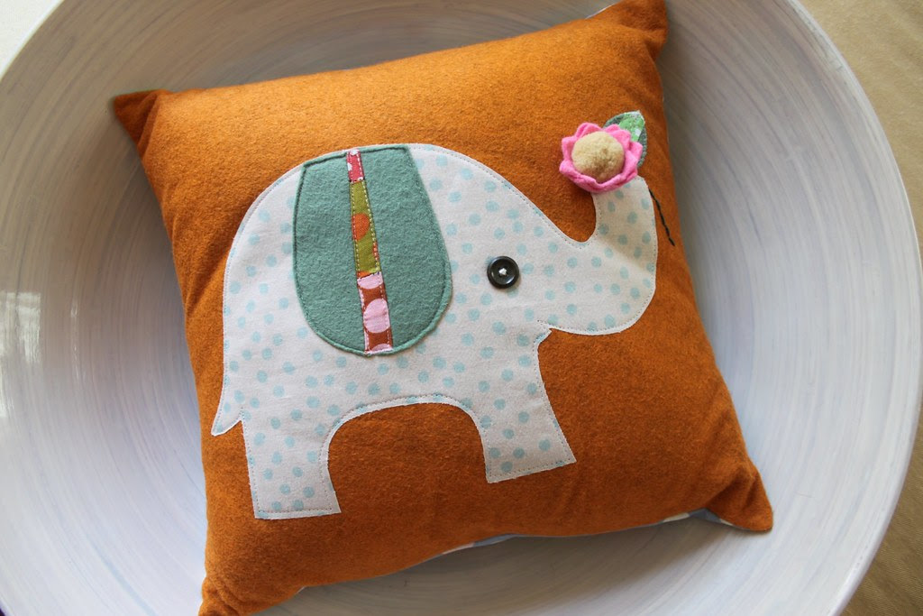 new elephant pillow pics for my etsy