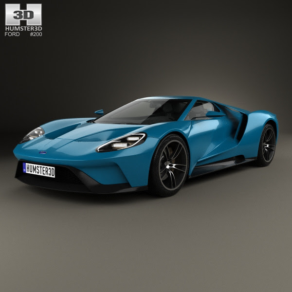 Ford GT 2017 3D model - Humster3D