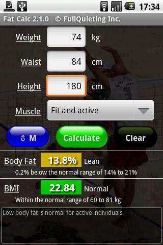 body fat percentage calculator detailed