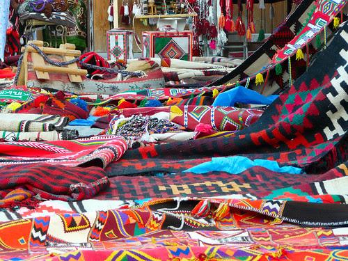 Bedouin cloth on display