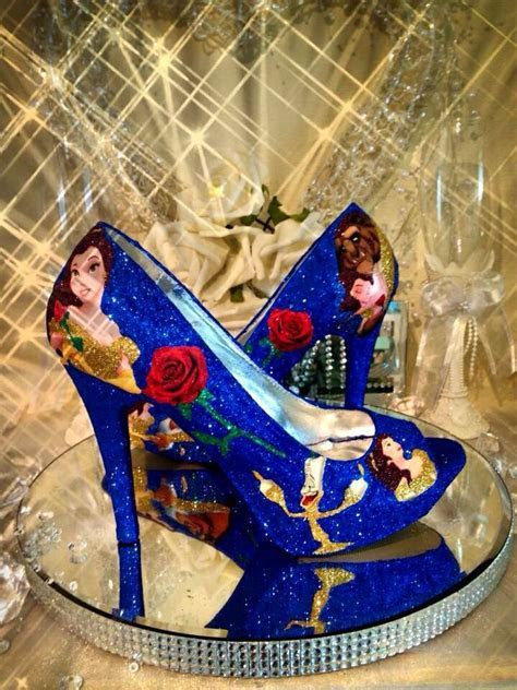 Disney beauty and the beast wedding shoes heels   DISNEY
