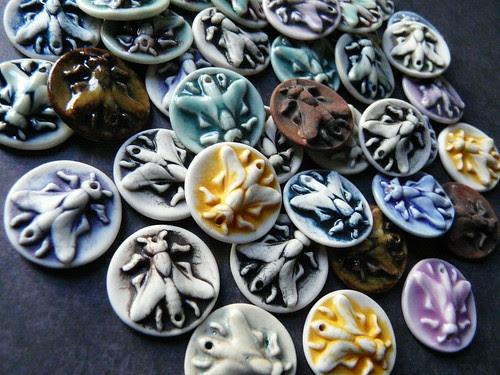 Flies - Porcelain Jewelry Components