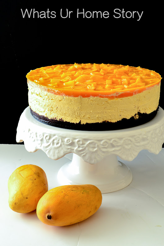 Mango Cheesecake - No Bake Recipe - Whats Ur Home Story