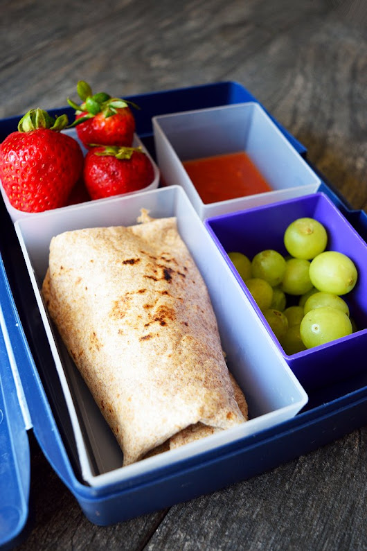 Clean Eating Lunch Box Burritos Recipe | The Gracious Pantry