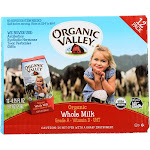 Organic Valley Whole Milk - 12 pack, 6.75 fl oz cartons