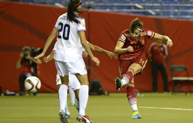 España debuta con empate. Vicky Losada primer gol en un mundial