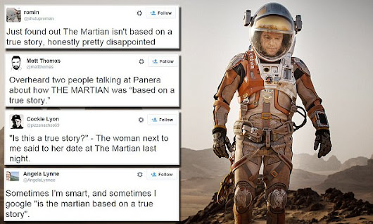 Scores of people believe The Martian is based on a true story