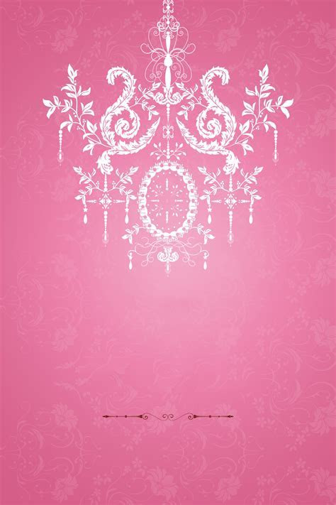 Pink Romantic Wedding Welcome Posters Psd Background