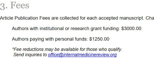 About Those Manipulative Spam Emails from Internal Medicine Review