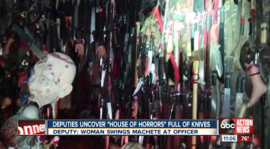 Florida woman arrested at home filled with 3,500 knives, swords
