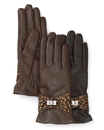 Bloomingdale's Gloves With Pony Belt